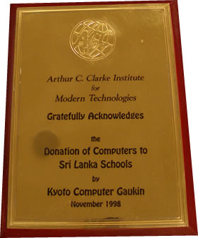 Award from the Arthur C. Clarke Institute for Modern Technologies